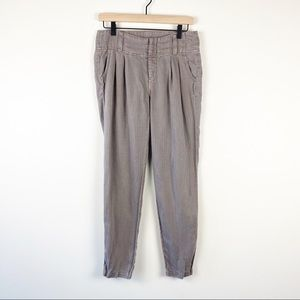 Free people brown cloth trousers